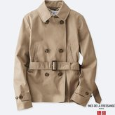 Uniqlo Women's Idlf Cotton Twill Short Trench