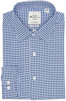 Ben Sherman Houndstooth Tailored Slim Fit Dress Shirt