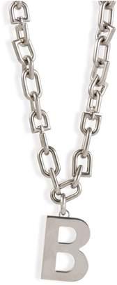 Balenciaga B necklace