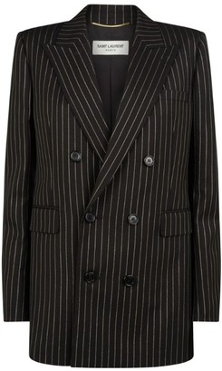 Saint Laurent Metallic Pinstripe Blazer