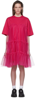 MSGM Pink Tulle T-Shirt Dress