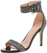 ENMAYER Women's PU Soft Material Sexy High Heels Sandals 4 B(M) US