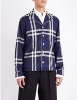 Burberry Pyjama check-print cotton shirt