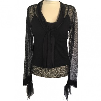 Chanel Black Lace Tops