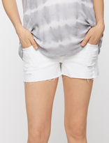 A Pea in the Pod Ag Jeans Secret Fit Belly Bonnie Destructed Maternity Shorts