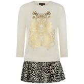 Roberto Cavalli Roberto CavalliGirls Ivory & Leopard Dress