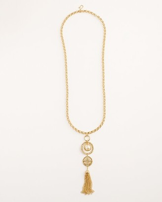 Chico's Convertible Goldtone and Faux-Pearl Pendant Necklace