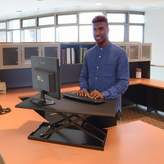 Luxor Pneumatic Adjustable Desktop Standing Desk Converter