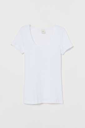 H&M Jersey top with lace