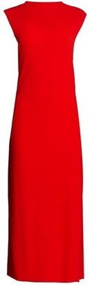 Helmut Lang Twist-Back Jersey Midi Dress