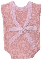 TraveT Newborn Baby Cute Photography Prop Lace Vest Rompers with Bowknot