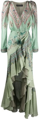 Etro Paisley Print Ruffled Hem Dress