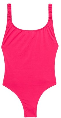 Fisch Select Shimmer Scoop-back Swimsuit - Pink