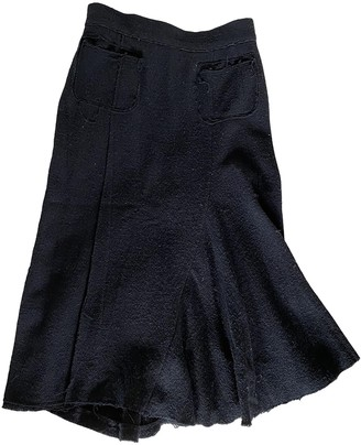 Nina Ricci Black Tweed Skirt for Women