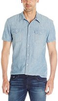 True Religion Men's Short Sleeve Ryan Western Shirt