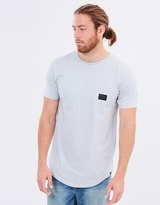 Quiksilver Mens Scallop East Woven Pocket T Shirt