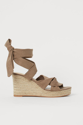 H&M Wedge-heeled sandals