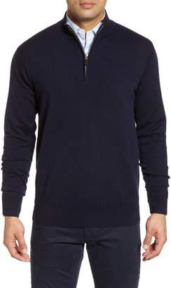 Peter Millar Crown Comfort Cash Quarter Zip Cashmere Blend Pullover