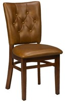 Regal Beechwood Button Tufted Upholstered Dining Chair