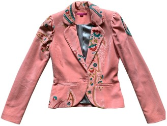 Matthew Williamson Pink Velvet Jacket for Women