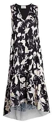 3.1 Phillip Lim Women's Abstract Sleeveless Flounce Dress
