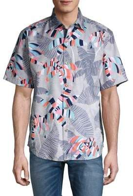Tommy Bahama Deco Palm-Print Short-Sleeve Shirt