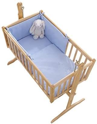 Clair De Lune Starburst Crib/Cradle Quilt and Bumper Set, Blue