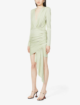 Alexandre Vauthier V-neck stretch-silk mini dress