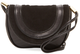 Diane von Furstenberg Mini Leather & Suede Saddle Crossbody