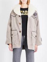 Marc Jacobs Shearling-collar cotton corduroy coat