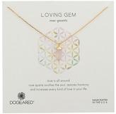 Dogeared Loving Gem Rose Quartz Necklace