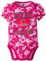 Baby Girl Chicago Bears Loves Football Camo Bodysuit