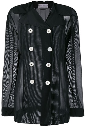 Dolce & Gabbana Pre-Owned Sheer Double-Breasted Jacket