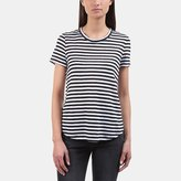 A.L.C. Tesi Linen Striped Tulip-Back Tee