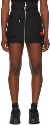 Heron Preston Black Wool Cargo Miniskirt