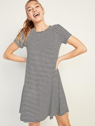 Old Navy Jersey-Knit Short-Sleeve Swing Dress for Women