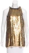 Rachel Roy Embellished Silk Top w/ Tags
