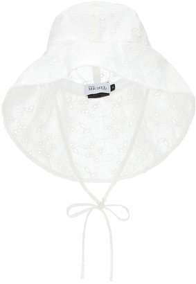 Maison Michel Julianne broderie anglaise bucket hat
