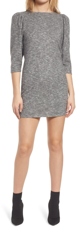 Leith Hachi Puff Sleeve Minidress