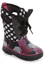 Bogs Girl's Casey Pompons And Dots Waterproof Boot