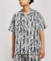 Desmond & Dempsey The Purist Print Cotton Cuban Pyjama Shirt