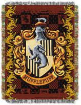 Warner Brothers Harry Potter Hufflepuff Crest Triple Woven Tapestry Throw Bedding
