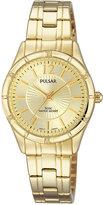 Pulsar Women's Easy Style Gold-Tone Stainless Steel Bracelet Watch 28mm PH8258