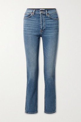 RE/DONE 80s High-rise Slim-leg Jeans - Blue
