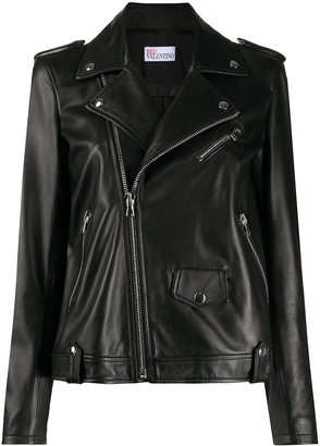 RED Valentino Pleated Biker Jacket