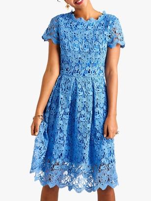 Yumi Floral Lace Dress, Blue/Multi
