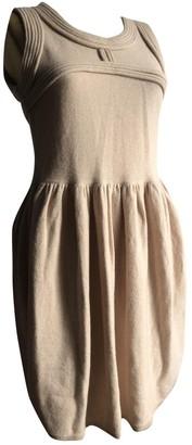 Rodier Beige Wool Dress for Women