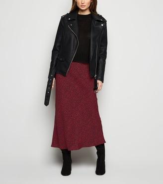 New Look Leopard Print Bias Cut Midi Skirt