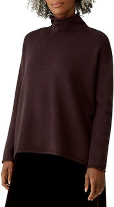 Eileen Fisher Funnelneck Boxy Top