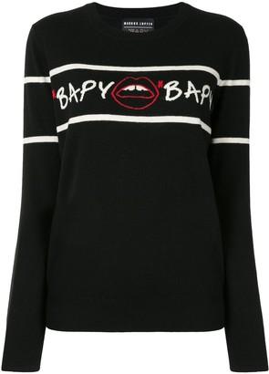 Bapy Intarsia Knit Striped Jumper